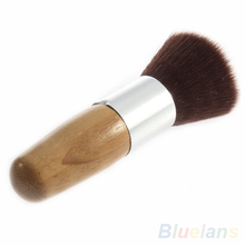 Flat Top Buffer Foundation Powder Brush Cosmetic Makeup Basic Tool Wooden Handle 1G7W
