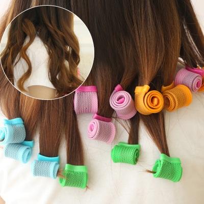 18pcs/Pack 2015 No Hurt Diy Stlying Hair Rollers Tool Plastic Magic Hair Curlers Wave Hair Easy Curls(China (Mainland))