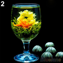 4 Balls Different Handmade Blooming Flower Green Tea Home Wedding Gift 1ON6 1ORU 2TOY