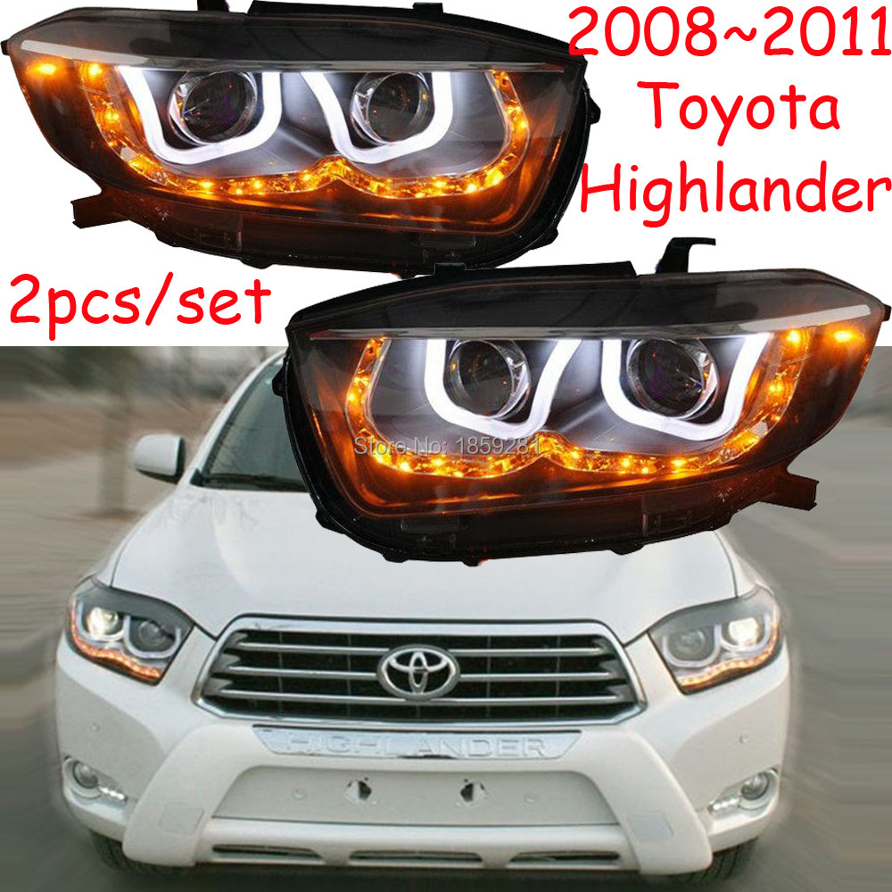 Highlander headlight,2012~2014,2008~2011,Free ship! Highlander fog light,2ps/set+2pcs Ballast,Highlander driver light,Highlander