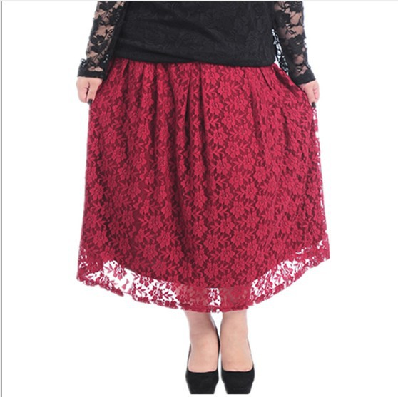 aliexpress buy plus size lace skirt 3xl black