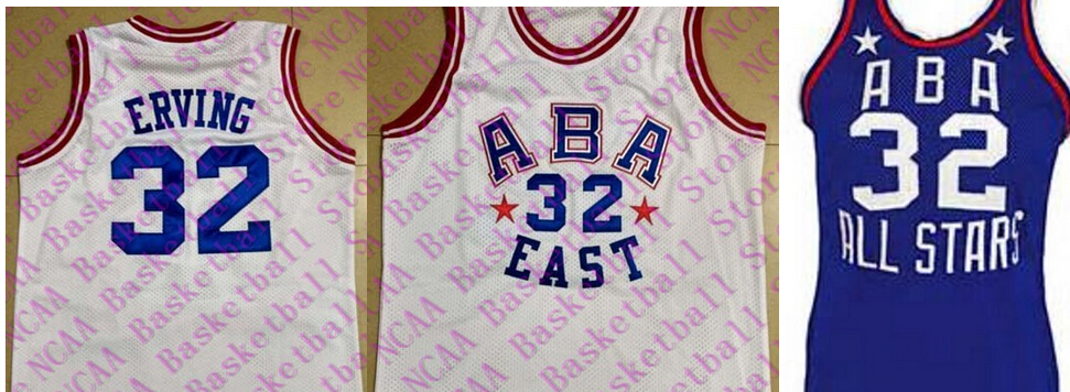 #32 Julius Erving jerseys All Star Throwback Basketball Jerseys,blue,White or customize Any number Mens Stitched Jersey<br><br>Aliexpress