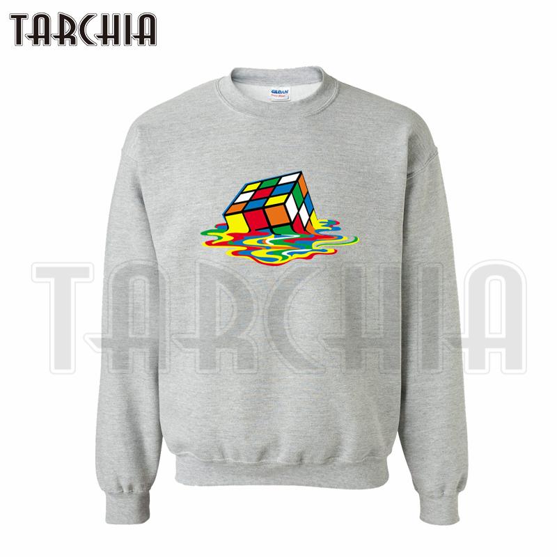 TARCHIA European style Free Shipping fashion casual men font b sweatshirt b font Rubik s Cube
