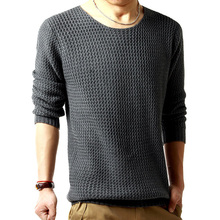 Free shipping pullover sweater male o-neck sweater 2014 spring new long sleeved turtleneck sweater knitted men