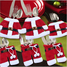 Christmas snowman cutlery bags Clothes Cutlery Bag practical household items Christmas supplies(China (Mainland))