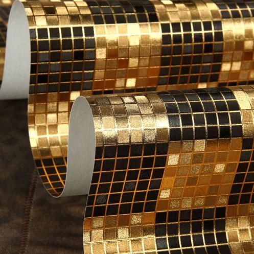 Online kaufen gro handel gold seide tapete aus china gold for 3d tapete gold