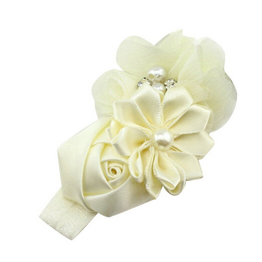 Fashion Hair Bands Hairband Rhinestone Ribbon Pearl diamond Girls Flowers Headband Kids Hair Accessories Headwear 2017 new