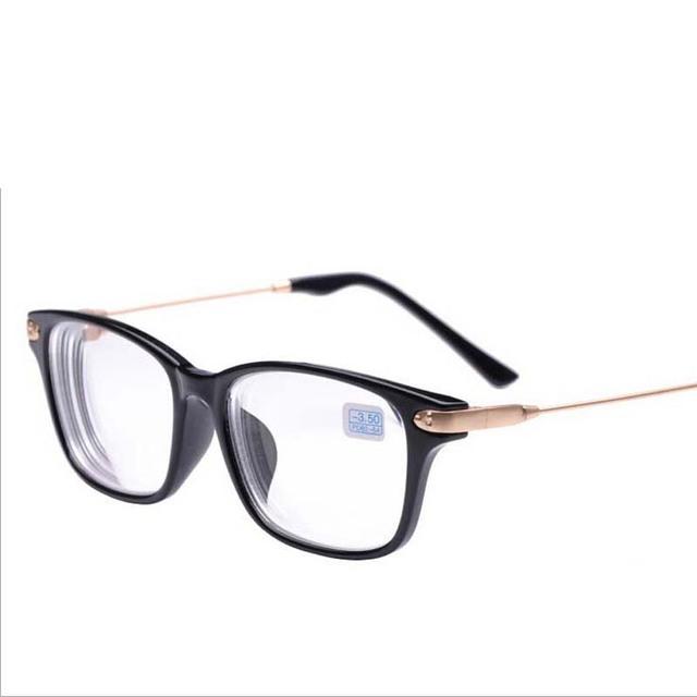 Близорукость очки черная рамка металл золото ноги прозрачный объектив близорукие ...