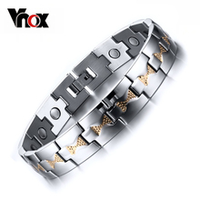 Buy Vnox Health Care Magnets Men's Bracelet Bangle Adjustable Length Stainless Steel Jewelry Man for $8.20 in AliExpress store