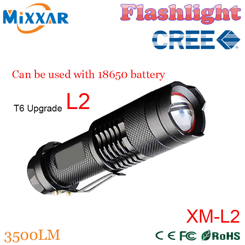 zk50 CREE XM-L2 3500LM led Torch 5-mode Zoomable lantern LED tactical Waterproof led Flashlights Torch<br><br>Aliexpress