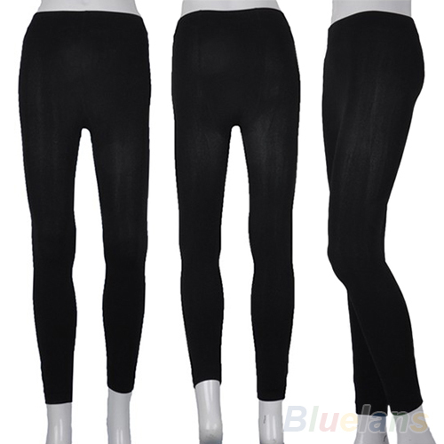 Fitness High Street Lady Womens Winter Warm Skinny Slim Stretch Thick Footless 083W