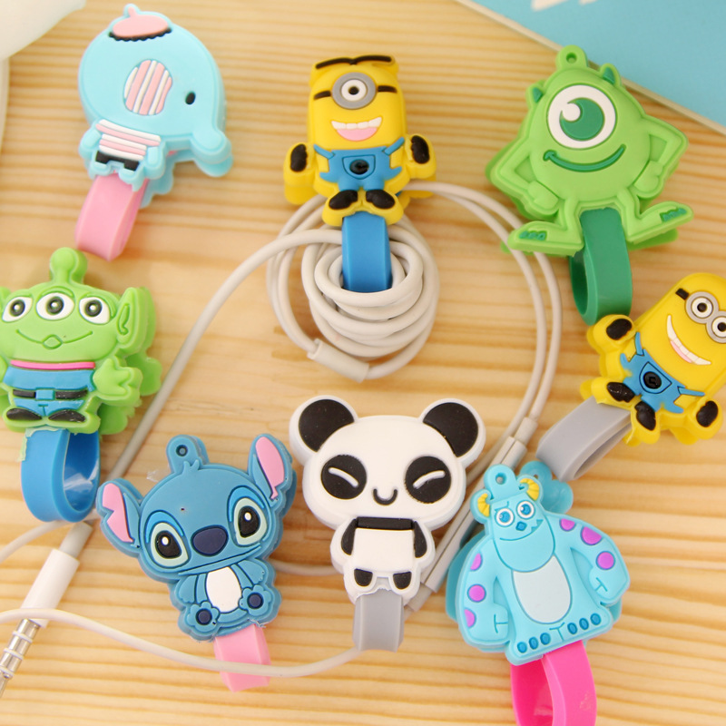 100PCS Cute Animals Earphone Heaphone Winder Cable Cord Organizer Holder For Iphone Ipad Mp5 Multi-styles<br><br>Aliexpress