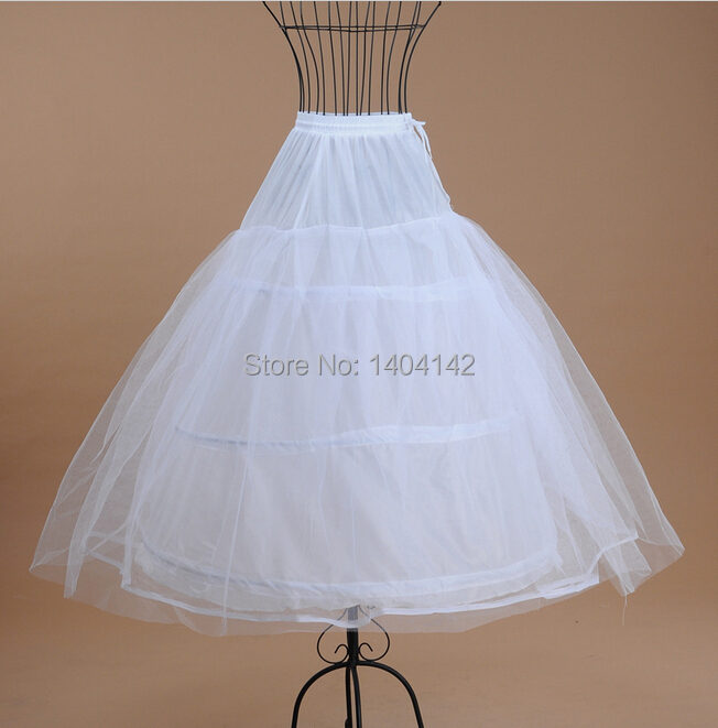 High quality ball gown knee length white tulle anagua de for Tulle petticoat for wedding dress