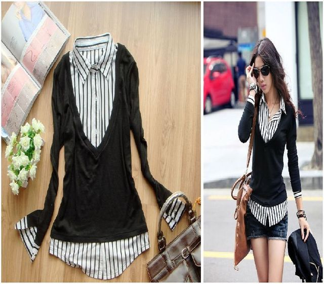 plus size clothing new arrival long-sleeve spring white collar ol sweaters black xl xxl xxxl