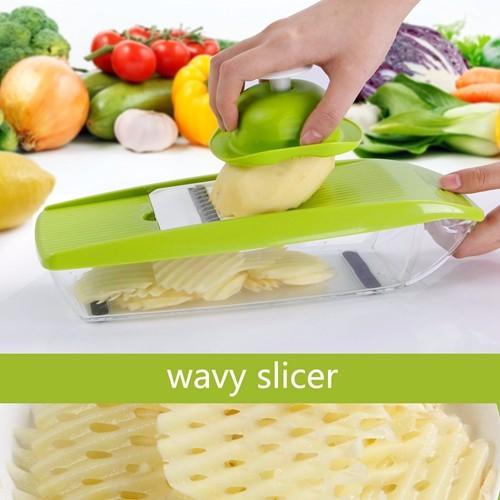 Buy Lifewit Mandoline Slicer Vegetable Slicer Set Stainless Steel 3 Slicers and 2 Shredders with Container & Food Holder & Brush cheap