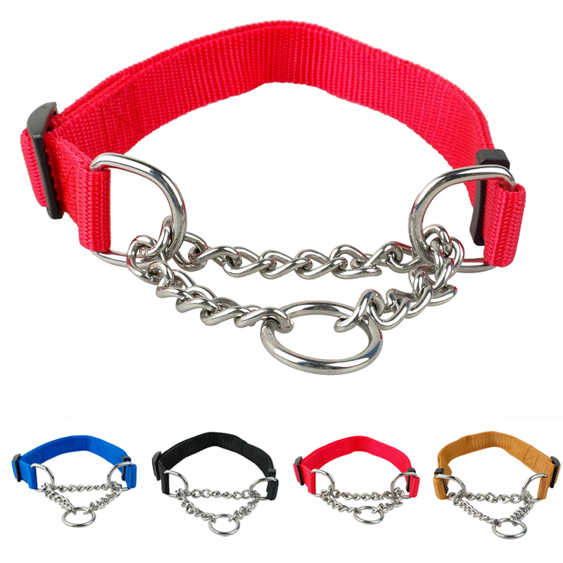 "2.5 cm Nylon Dog Pet Choke Chain Training Collar All Colors 16-29"" Adjustable 1.0"" Wide(China (Mainland))"