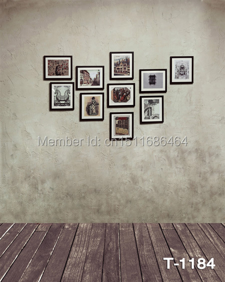 hot sale free shipping 5x7ft Photography Backdrops Photo Studio Computer Painted baby mini background indoor photo wall wood(China (Mainland))