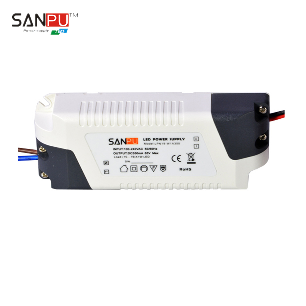 SANPU SMPS 20W 350mA 57V LED Switching Power Supply Driver IP 44 110V 120V AC/DC Transformer IP44 Indoor Plastic for Strip Light(China (Mainland))