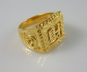 Wholesale Super deal New arrival fashion Jewelry vacuum plating 24K gold Ring size 9 Super price !Free Shipping ZKR6