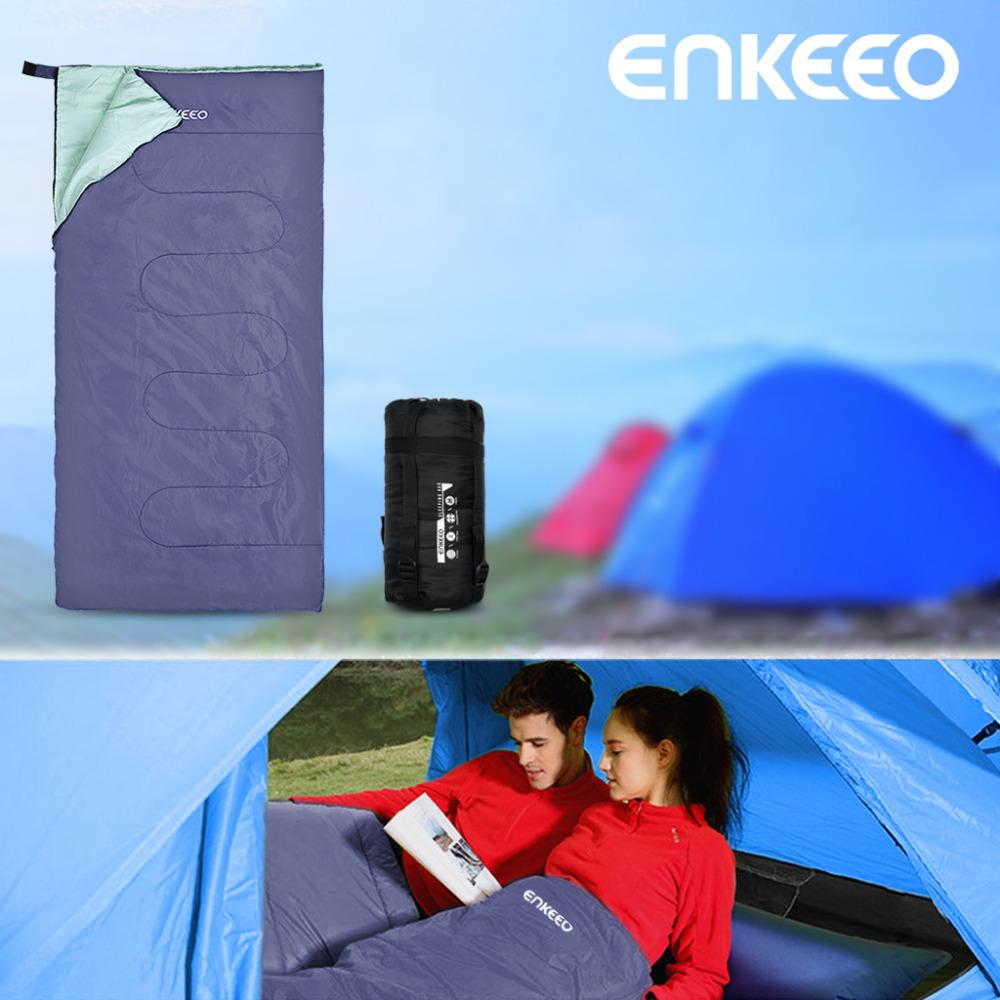 Enkeeo Camping Sleeping Bag 2 Sizes Zippable Lightweight Compact Waterproof Sleeping Bag for Camping Outdoors Hiking Travel(China (Mainland))