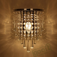 Modern Crystal Chandelier Wall Light Lighting Fixture 220V E14 LED Ceiling Lights(China (Mainland))