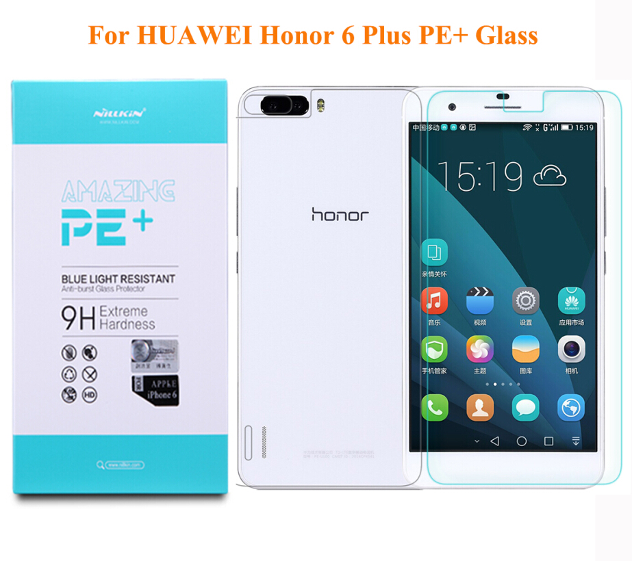 NILLKIN Amazing PE+ Blue Light Resistant 2.5D Tempered Glass Screen Protector Film For HUAWEI honor 6 Plus Honor6 Plus 6X 6Plus(China (Mainland))