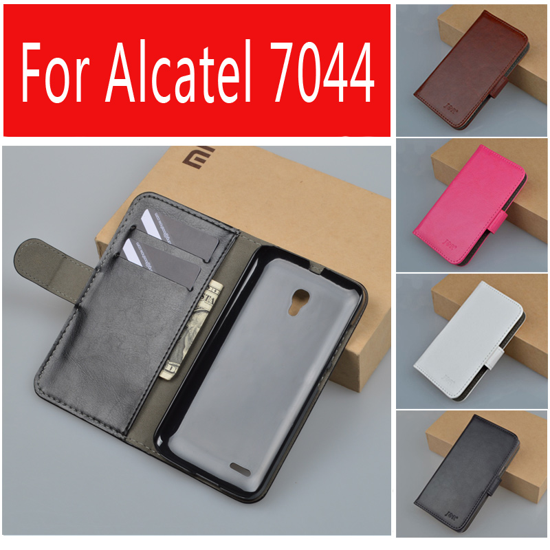 J и R бренд для Alcatel One Touch поп-воздушными 2 5  7043A 7043Y 7043 К 7044 премиум LTE искусственная кожа стенд чехол сумка с ID карты слоты wierss защитный экран для защитного экрана для alcatel one touch pop 2 5 ot 7043 7043a e k y pop 2 5 защитная пленка