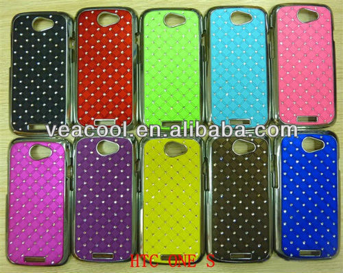 10pcs/lot free shipping Luxury Bling Diamond Crystal Star Hard Case Cover for HTC One S Z520e