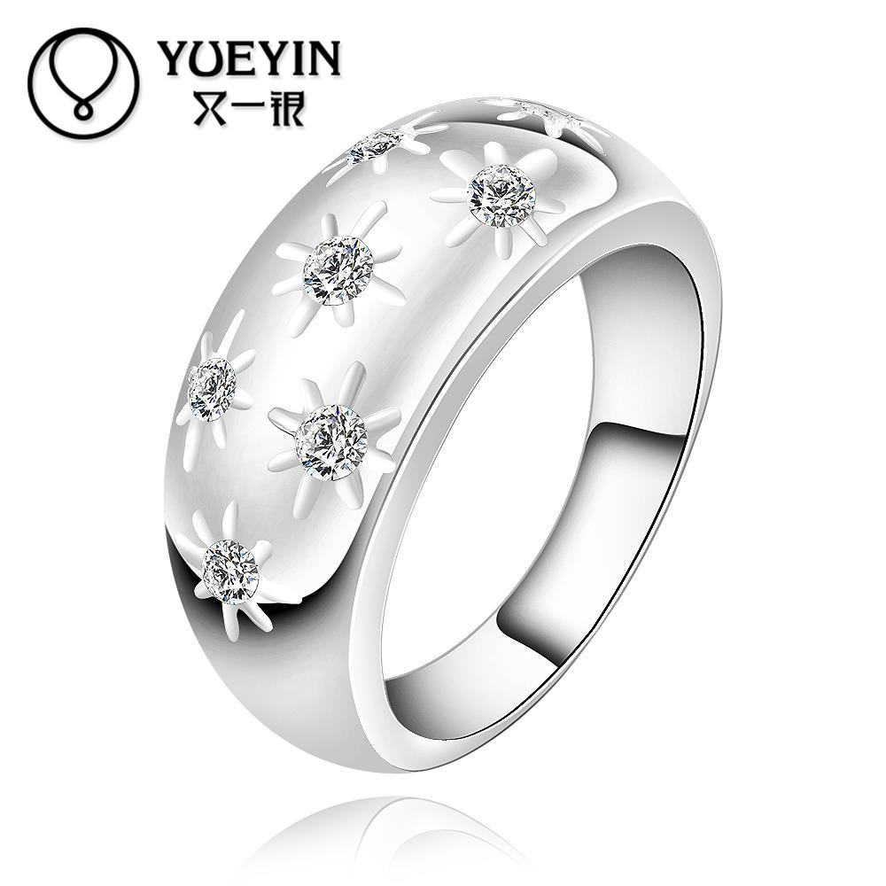 New fashion women ring accessories jewelry top quality crystal finger rings for women girl nice gift with 925 stamp(China (Mainland))