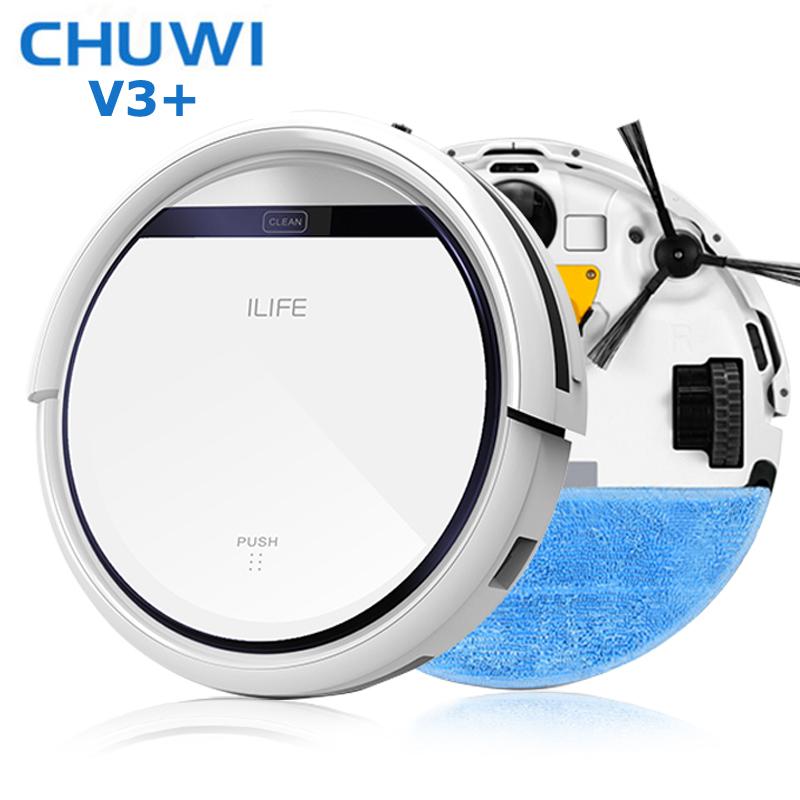 CHUWI Intelligent Robot Vacuum Cleaner for Home Slim, HEPA Filter,Cliff Sensor,Remote control Self Charge V3+ ROBOT ASPIRADOR(China (Mainland))