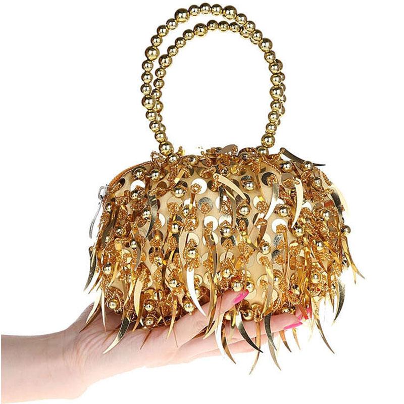 2015 Pearl Handdle Beads Handbags Bling Evening Clutch Luxury Europe Fashion Zipper Purse Bags Bolsas Femininas Makeup Bag XA27D<br><br>Aliexpress