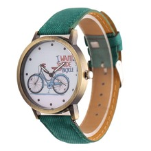 Girl Boy Fashion Bike fabric Quartz Watches Men Sports Watches Women Dress Watch wristwatch relogio masculino