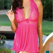 2015 Hot Lace Voile Temptation Erotic Lingerie Pajamas Women Sexy Costumes Ms. Sexy Underwear Sleepwear Dress Suit Apparel
