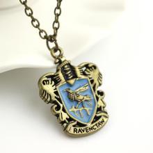 Movie Jewelry Hogwarts Gryffindor Hufflepuff Free Shipping Slytherin Ravenclaw School Hot Sale Crest Necklace Pendants Jewelry