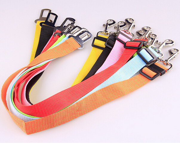 Promotion Auto Pet Safety Belt Car Dog Seat Belt Adjustable Nylon Traction Leash Free Shipping(China (Mainland))