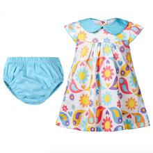 2016 summer new dress 0-4 years old infants cotton short-sleeved summer girls dress skirt suit underwear suit