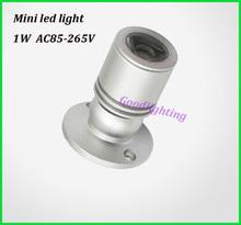 1W 3W led spot light mini led downlight 10pcs/lot AC85-265V white or warm white cabinet led light RoHS CE(China (Mainland))