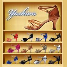 2015 nuevas muchachas de la marca mujeres de salsa del salón de tango zapatos de baile latino 7 cm tacón alto del estilo 22(China (Mainland))