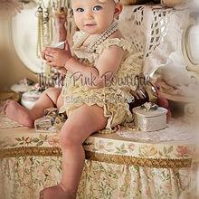 SALE Cream Petti lace romper,girls lace romper Smash cake outfit, Ruffled romper(China (Mainland))