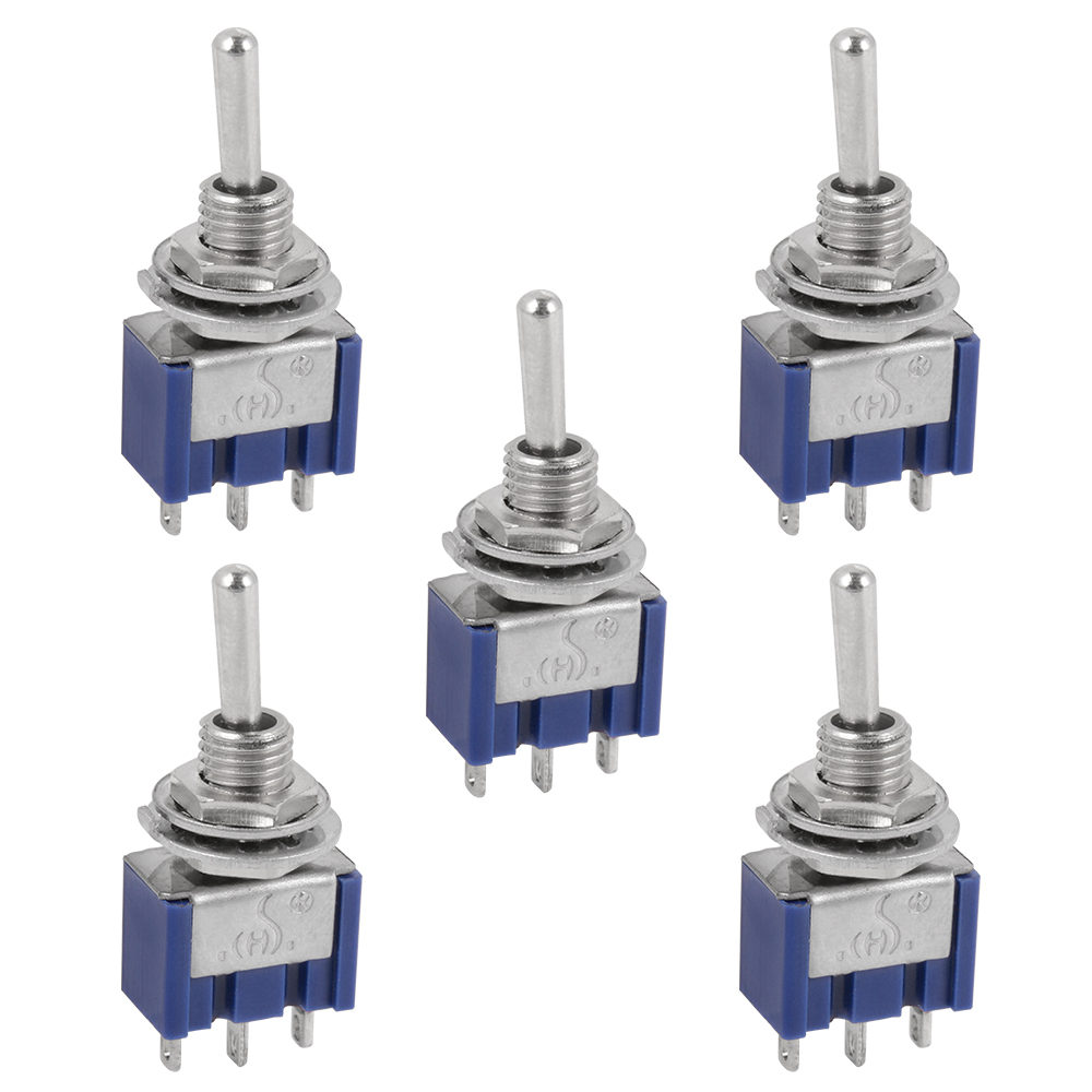 5pcs AC 125V 6A 3 Position 3Pin SPDT ON-OFF-ON Micro Mini Toggle Switch TE460(China (Mainland))