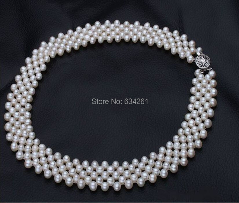 Real Pearl Necklace for women with Gold Plated white genuine Natural farming Freshwater pearls jewelry,BEST GIFT,Free shipping(China (Mainland))