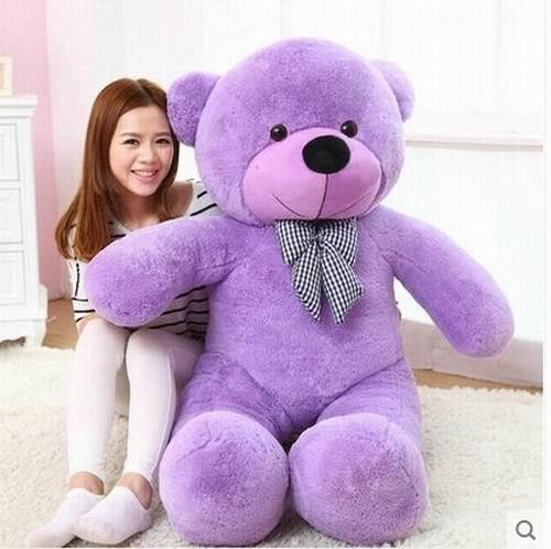 Details about new 120CM 47'' BIG CUTE Purple PLUSH TEDDY BEAR HUGE SOFT 100% PP COTTON TOY(China (Mainland))
