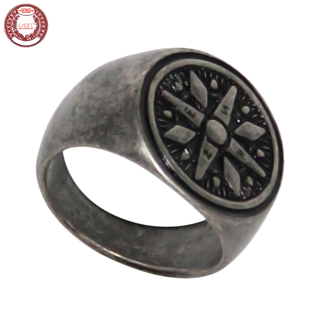 HALIFE Brand Bohemian Style Compass Ring for Men,made of alloy metal with Antique Silver Finished,2016 New Fashion,High Quality(China (Mainland))