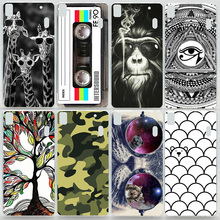 Case For Lenovo K3 Note A7000 Colorful Printing Drawing Plastic Hard Cover for Lenovo K3 Note Fashion Transparent Phone Cases
