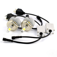 2Pcs 30W 6000K H4 COB LED Headlight Bulb All-in -one Conversion Kit White Fog Lamp Xenon Bulb(China (Mainland))