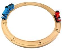 8pcs/lot DIY children wooden train tracks toys beech wood train railway Tomas and friends slot train