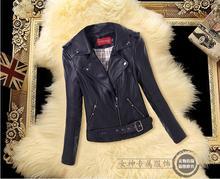 2016 New fashion spring Ladies leather jacket 4XL plus size jackets women leather clothing motorcycle leather coat women
