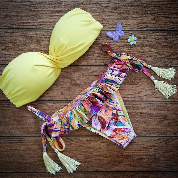 купить Женское бикини Bikini 2015 bain B38 swimwear по цене 1015 рублей