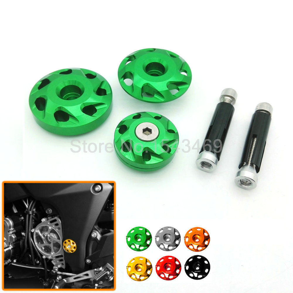 New Coming Motorcycle For Kawasaki Z1000 2010-2015 Z1000SX 2011-2015 Motorblike Accessories Frame Hole Cover Green Color(China (Mainland))