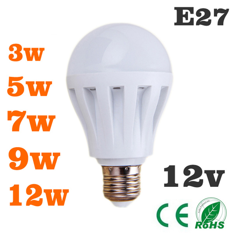 12 Volt Dc Led Light Fixtures: Led Bulbs 3W5W7W9W12W Led Light Bulb DC 12V E27 12 Volt